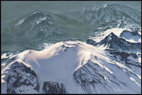 Above Rainier, original oil painting by Mark Downey