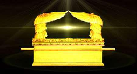 The Ark of the Covenant, with the mercy seat and the representation of the two cherubim on top of it.  This is where the LORD God sat and talked many times with Moses.
