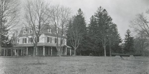 August Belmont's mansion on the west side of Babylon, New York.
