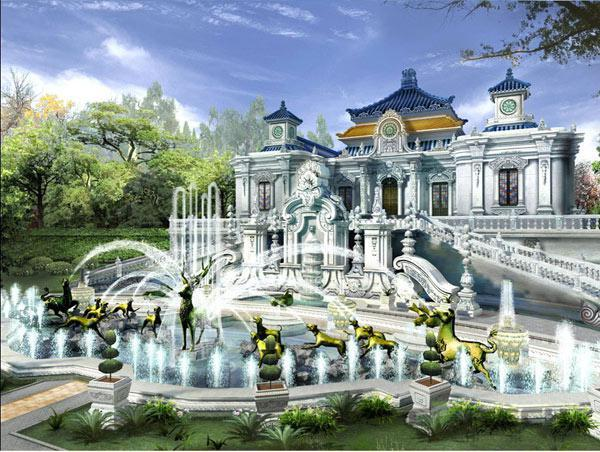 An artist's impression of the new replica of Beijing's Old Summer Palace.