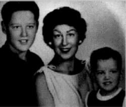 Bill Clinton with his mother and younger brother, Roger.  Bill's mother, Virginia Kelley, was married five times, twice to the same man.