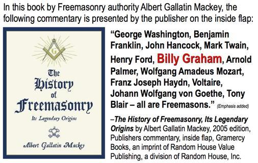 Though he never publicly acknowledged it, Billy Graham was a (33rd degree) freemason.