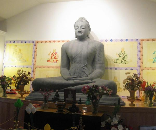 Statue in a Buddhist temple close to our church in Florence KY
