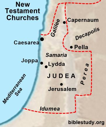 Three men were sent by Cornelius to find Peter who was lodging at the house of Simon the Tanner. It took them two days to get to Joppa from Caesarea.