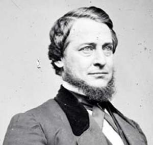 "Prominent Copperhead leader, and former Ohio congressman, Clement L. Vallandigham.  He created the Copperhead slogan ""To maintain the Constitution as it is, and to restore the Union as it was."""