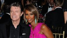 David Bowie and his Somali-born wife.