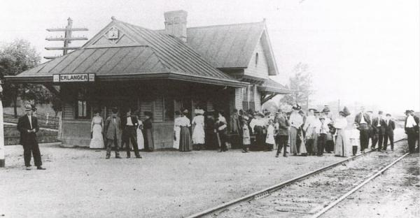 "The only foreign loan to the Confederate States of America (called the ""Erlanger Loan"") helped to build a train depot for the run to Chattanooga from Cincinnati."
