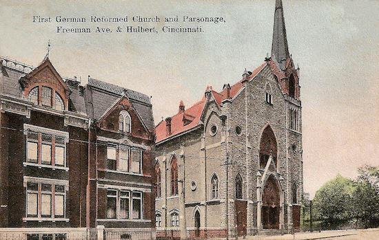 Built in 1851, the First German Reformed Church was built in Cincinnati.