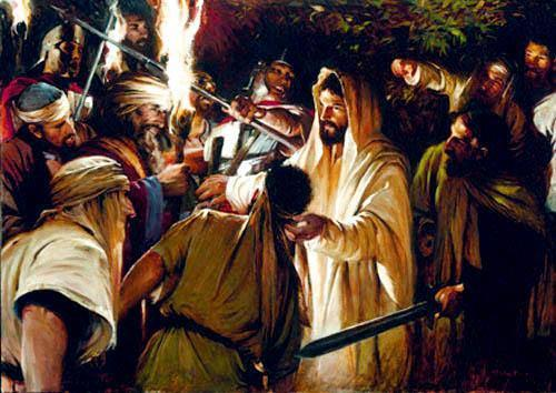 The confrontation in Gethsemane: Mt. 26:52