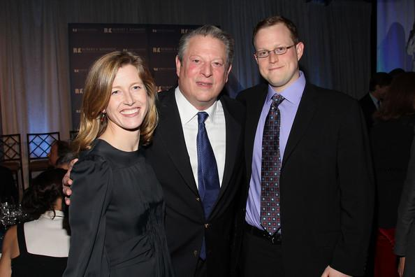 Al Gore with his daughter, Kareena Gore Schiff and her husband, Andre Schiff, great-great-grandson of Jacob Schiff.