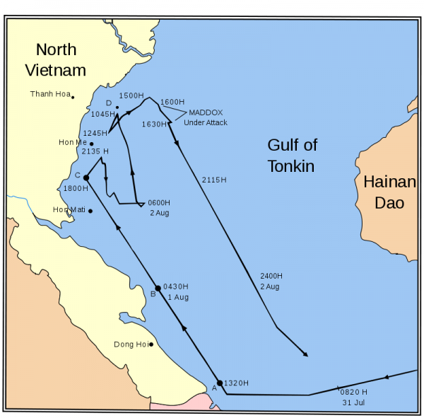 The Gulf of Tonkin incident is the most notorious false flag in American history. It resulted in the death of three million people. Declassified documents also reveal a number of senators knew the incident in the Gulf of Tonkin was a false flag.