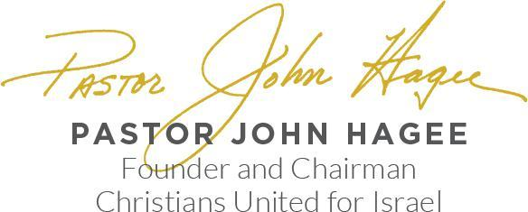 Hagee signature graphic CUFI newsletter