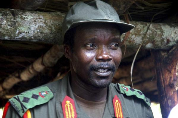 "Joseph Kony in 2006. In 2008, the United States government declared him a ""specially designated global terrorist."""