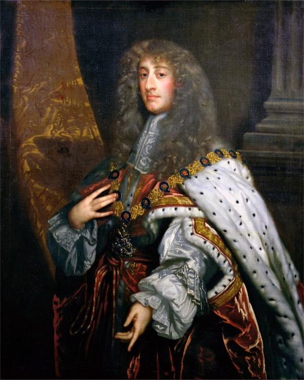 James II succeeded his brother Charles II to the throne. After the Restoration he had served as Lord High Admiral until he announced his conversion to Roman Catholicism and was forced to resign.