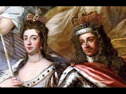 William III and his wife Mary II (daughter of King James II) were proclaimed joint sovereigns of England in 1688 following the Glorious Revolution.