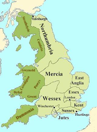 Map of Anglo-Saxon England