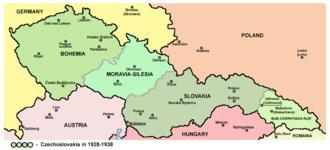 Bohemia was one of four countries that made up the country of Czechoslovakia.