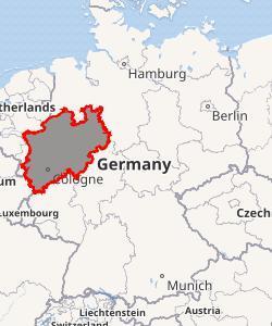 Map of North Rhine - Westphalia.