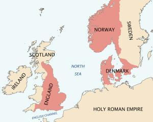 Map of western Europe in the later part of 1000 AD.