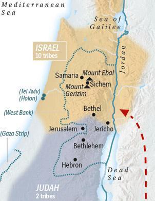 Mount Gerizim was 31 miles north of Jerusalem.