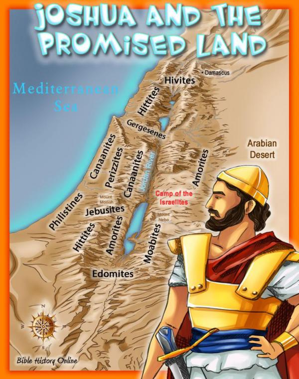 Map depicting the Promised Land that Israel was given by God.  Whose land were they given?