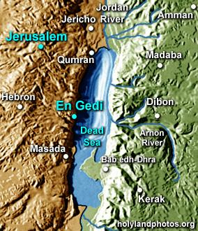 The people of Moab, Ammon and the Edomites came to battle against the Kingdom of Judah.  They were encamped at En Gedi.
