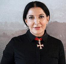 Abramovic wearing a Knights of Malta cross has been created. Marina Abramovic wearing a Knights of Malta cross