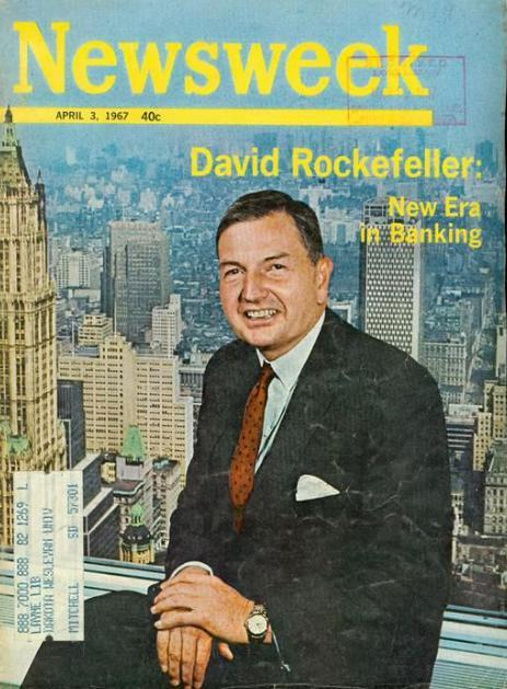 David Rockefeller on the cover of Newsweek Magazine on April 3, 1967