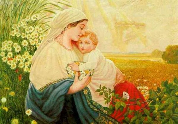 Mary and Jesus in 1913 by Adolf Hitler