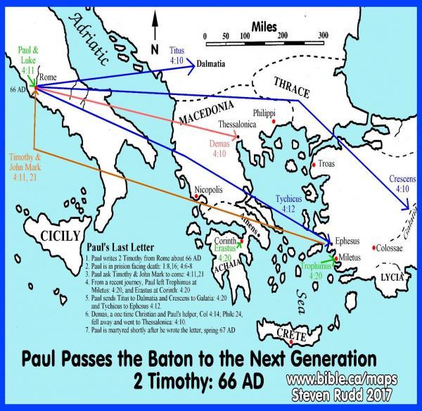 Apostle Paul's last letter