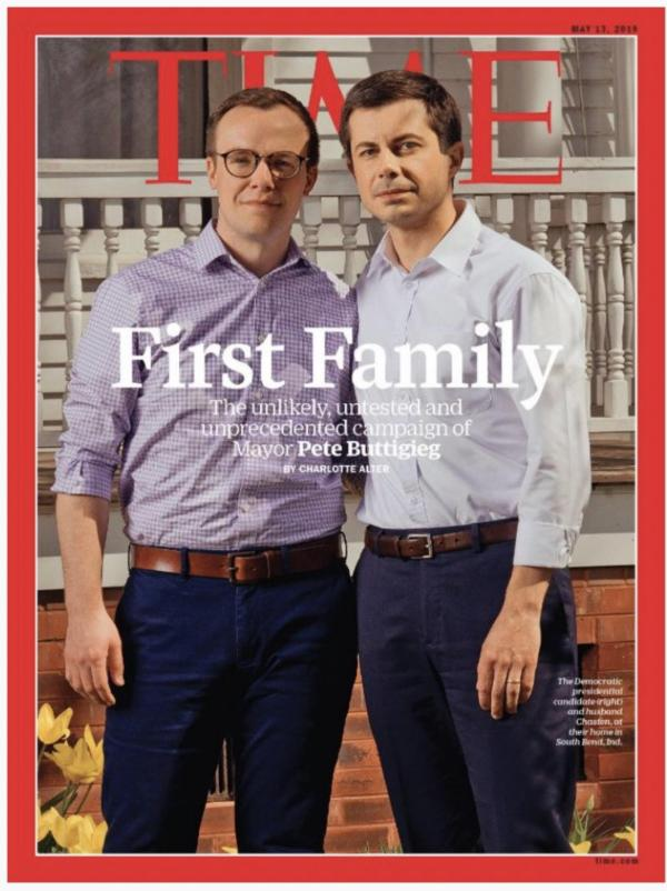 Pete and Chasten Buttigieg on the cover of Time magazine