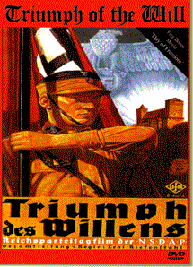 Poster of WWII documentary film, Triumph of the Will, about the return of Germany as a great power.