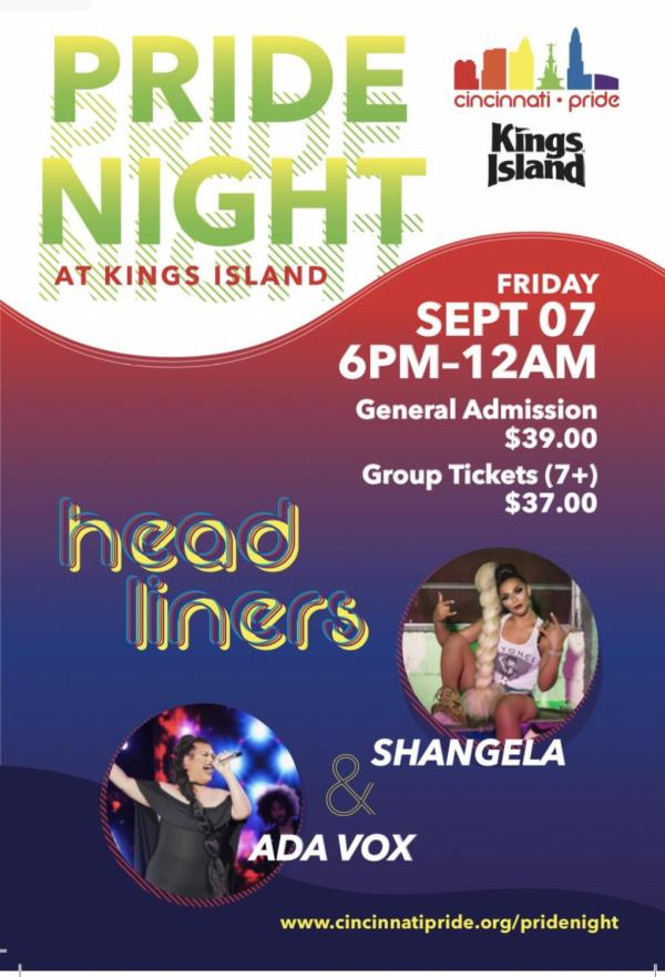 Queer Pride Night at King's Island will be in Sept 2018