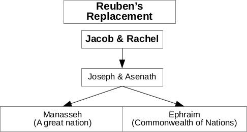 Reuben forfeited his birthright (1 Chronicles 5:2) and it was transferred to Joseph and his 2 sons