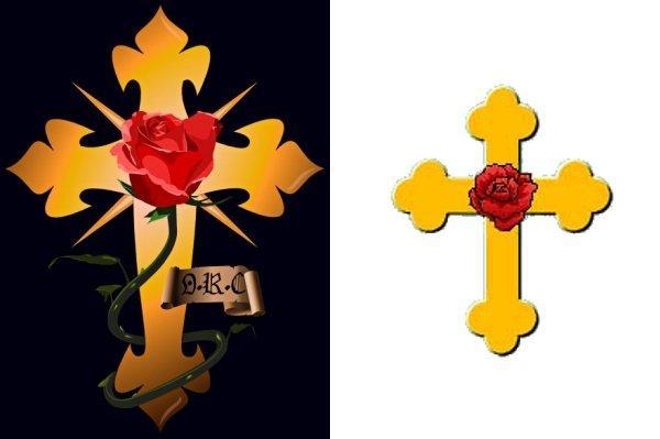 Examples of Rosicrucian Society symbols