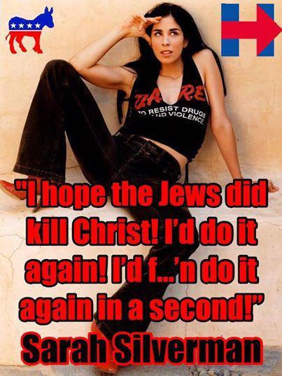 Sarah Silverman is a Jewish comedian who once made an outrageous statement about Christ and also appeared as a speaker for Hillary Clinton at the 2016 Democratic National Convention.