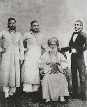 Sassoon and three of his sons.  The Sassoon family opium business brought death and destruction to millions and still plagues Asia to this day. Their company was totally operated by Jews ONLY!  For one hundred years China was humiliated by the British royalty and its jewish merchants.