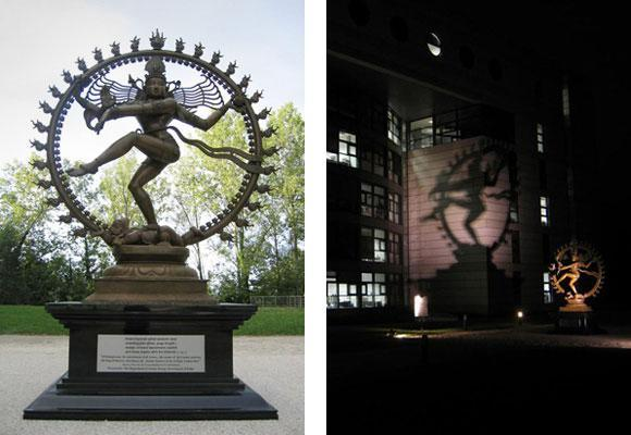 The statue, symbolizes Shiva's cosmic dance of creation and destruction, was given to CERN by the Indian government to celebrate the research center's long association with India.
