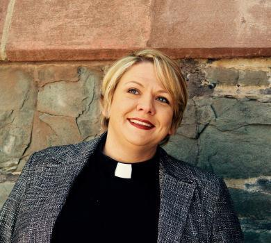 "Woman pastor of Mt. Auburn Presbyterian Church. This pastor is a double abomination of God—she is not the ""husband of one wife"""