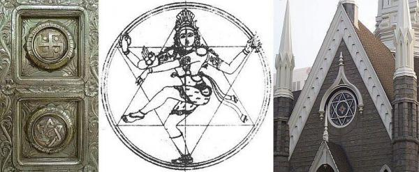 The star-of-David symbol adopted by the Jews is the most ancient of all Hindu sex symbols.