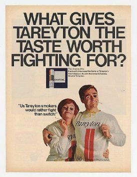 Advertisement for Tareyton cigarettes of the same Newsweek magazine