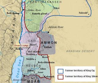 Location of Israelite camp in Deuteronomy 2:1-9