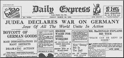 The London Daily Express, Front Page Story, 3/24/1933