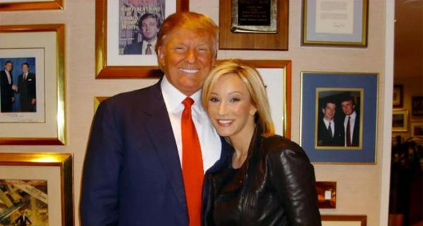 "President Donald Trump and his ""pastor"" Paula White-Cain"