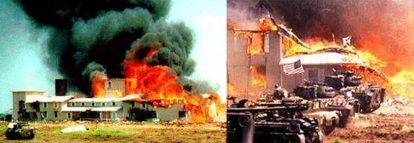 In 1993, Hillary Clinton gave Janet Reno her blessings to incinerate 19 little children at Waco.