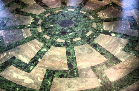 "The green mosaic ""sun wheel"" (12 points) in the floor of the Wewelsburg castle is in fact a representation of Christ  (John 8:12) and His Disciples in The Last Supper! The sun represents the Holy Scriptures, the Gospels (Malachi 4:2), ""sun of righteousness"", symbolic of Christ."