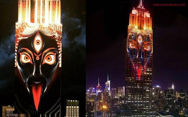 "The fierce portrait of Kali, the goddess of Death and Destruction that ""Illuminated"" New York City on the Empire State Building in April 2015"