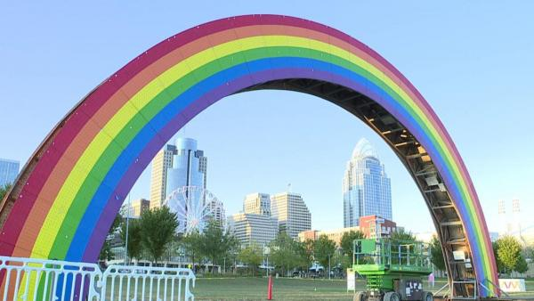 The bridge used by LGBTQ at BLINK in Cincinnati, Ohio