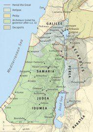 Map of Galilee, Samaria and Judea