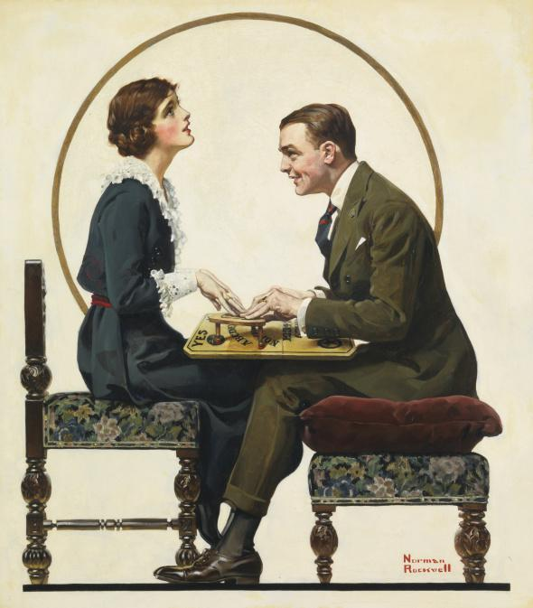 The Ouija board was so common that classic American illustrator Norman Rockwell illustrated a man and woman using one for the cover of a 1920 issue of the Saturday Evening Post.